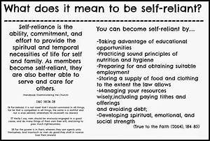 Lds Quotes On Self Reliance. QuotesGram
