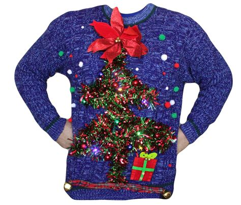 ugly light up christmas sweaters mens ugly christmas sweater xl light up by bellenouvelleco