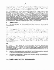 shareholder buy sell agreement template how to making With shareholder buyout agreement template