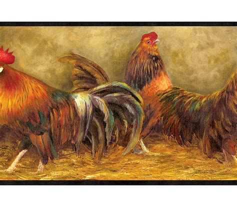 rooster border wallpaper gallery