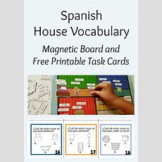House Vocabulary In Spanish Magnetic Board  Spanish Playground