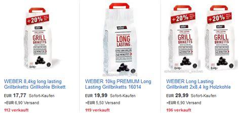 Weber Long Lasting Grillkohle Günstig Bei Ebay Dealblog