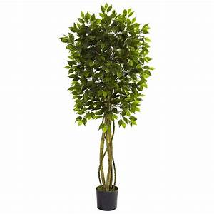 Nearly Natural 5 5 ft UV Resistant Indoor/Outdoor Ficus
