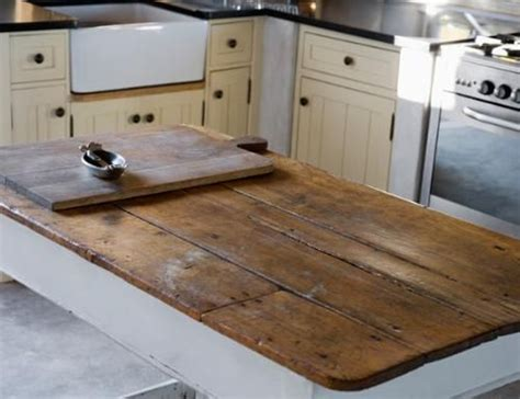 wood kitchen island top reclaimed and rustic your kitchen stand out by