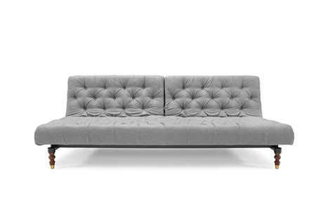 Oldschool Chesterfield Sofa Bed Light Grey Ifelt By Innovation