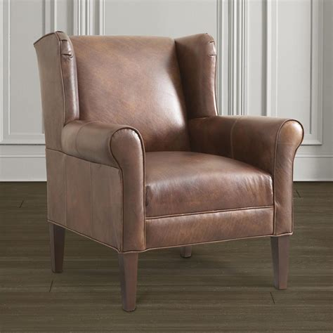 Contemporary Leather Accent Chair  Bassett Furniture