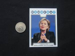 hillary clinton trading card a bill39s political shoppe With kitchen cabinets lowes with hillary clinton bumper sticker