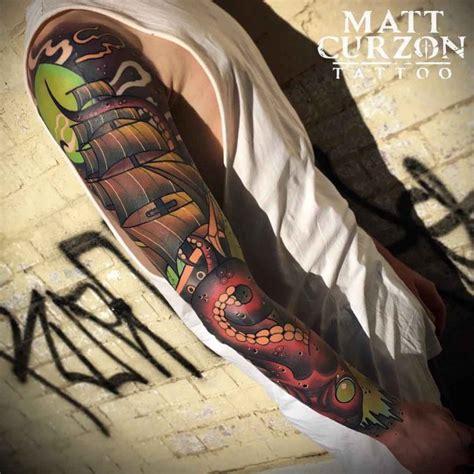 nautical neo traditional tattoo sleeve  tattoo ideas