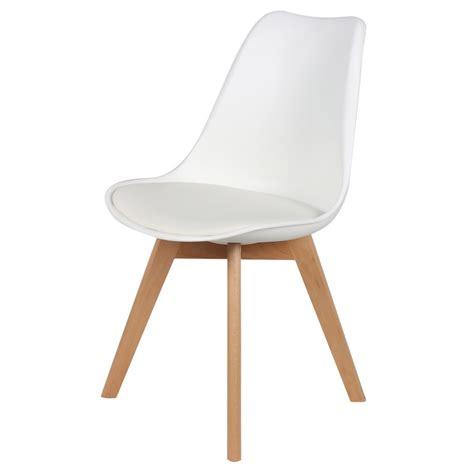 chaise simili cuir blanc chaise scandinave cuir simili blanc ericka lot de 4 pas