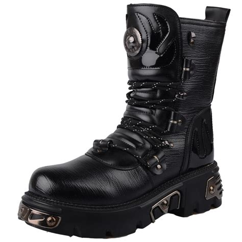 New Fashion Platforms Boot Mens Thermal Punk Boots