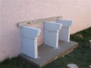 Construire Barbecue Beton Cellulaire : elevation des jambages construire son barbecue ~ Dailycaller-alerts.com Idées de Décoration
