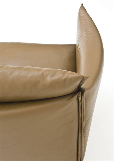canapé droit gentry l 240 cm cuir cuir ciré marron