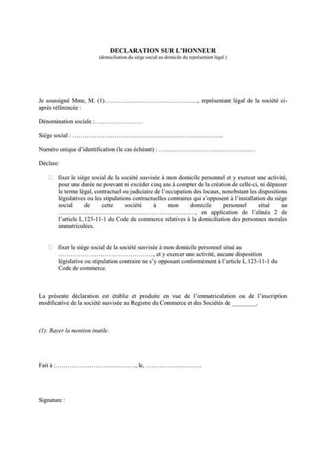 domiciliation si鑒e social modelé d 39 attestation loi dutreil domicilie chez representant doc pdf page 1 sur 1