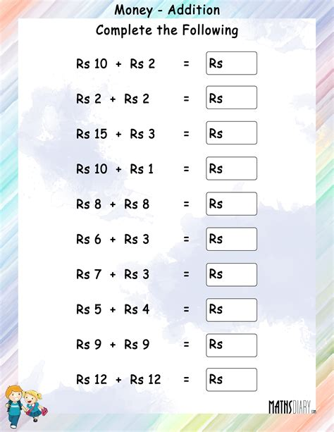 indian money worksheets for class 2 worksheet exle