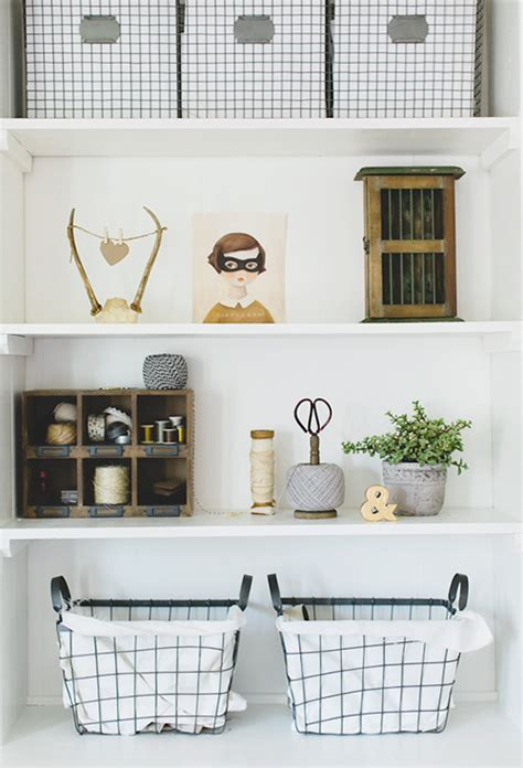 Decorating Bookshelves With Baskets by Styling A Bookshelf 10 Homes That Get It Right 5 Tips