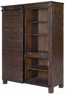 Pine, Hill, Rustic, Pine, Door, Bookcase, Mag