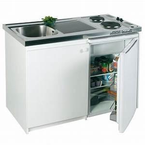Kitchenette avec plaques et réfrigérateur Confort inox FRANKE Bricozor