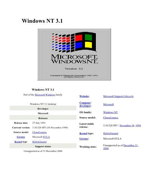 Windows Nt 3