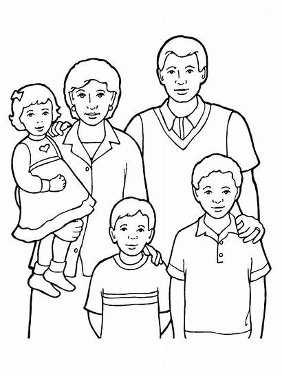 Drawing Pages Lds Coloring Five Members Clipart