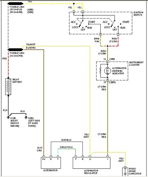 1990 Ford F 250 Alternator Wiring Diagram by 89 F250 7 3l Charging About 11 Volts Alternator Charge