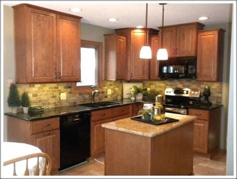 quartz countertops  oak cabinets full size  kitchen ideas  conjunction honey