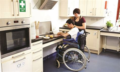 kitchen design for disabled leonard cheshire disability charity partnership howdens 4430
