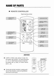 2019 Galanz Air Conditioner Remote Control Gz 1002b E3 Air