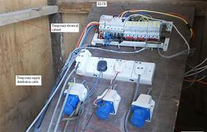 Electrical Installation Wiring Pictures  Temporary Electrical Cabling