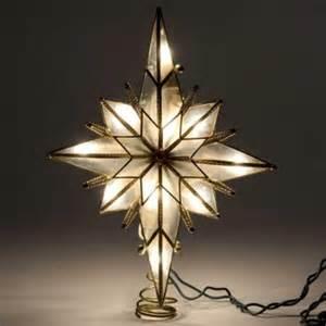kurt adler 10 quot star of bethlehem glass gem centerpiece christmas tree topper walmart com