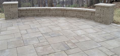 patio and sitting wall lance s landscaping