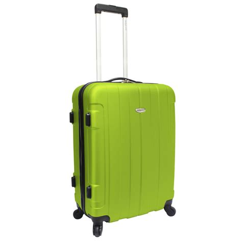 Light Luggage by Travelers Choice Rome 25 Quot Green Hardside Hardcase Spinner