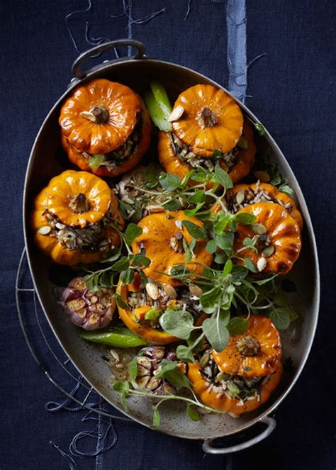 Check Out Wild Rice Stuffed Mini Pumpkins Its So Easy To