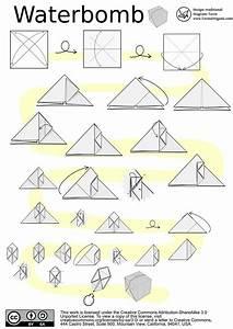 Origami Waterbomb Diagram