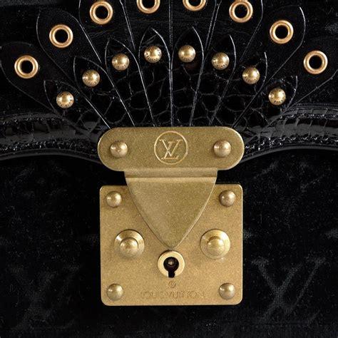 louis vuitton black noir monogram velours irvine bag  stdibs