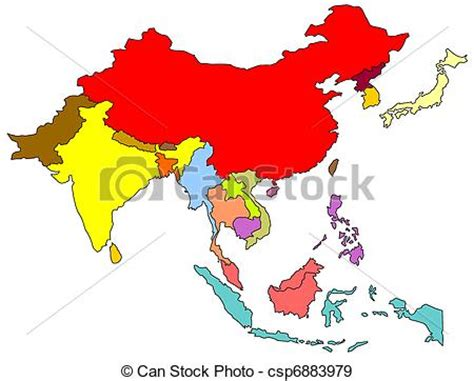 south east asia map map  south east asian countries