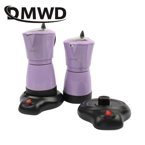 This coffer maker is made from the heavy cast aluminum which can last for a long time. DMWD Household automatic Aluminum 6 cups Italian Stove top Moka espresso pot electric stovetop ...