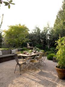 pea gravel patio architecture terraces pinterest