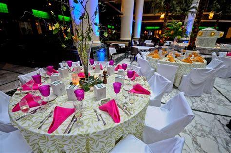 Tropical Wedding Reception Theme Idea