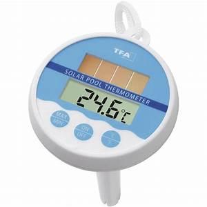 Thermometre De Piscine : thermom tre de piscine tfa solar blanc sur le site internet conrad 672102 ~ Carolinahurricanesstore.com Idées de Décoration