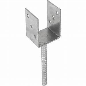 Pied De Poteau Réglable Leroy Merlin : support sceller acier en y gris x l 7 x p 7 cm ~ Dailycaller-alerts.com Idées de Décoration