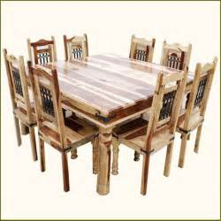 dining room table set 9pc rustic square dining room table chair set for 8 traditional dining sets