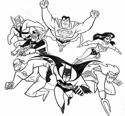 Justice League Coloring Pages Printable Batman Superhero