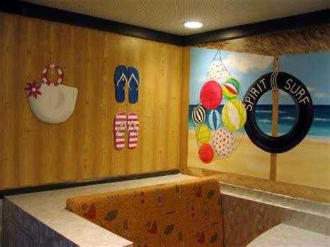 mural   surf shack painted  cruise ship thomson spirit