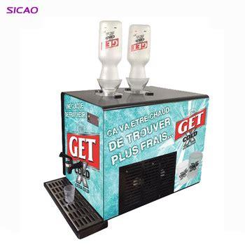 2 bottle liquor liquid wine juice drink dispenser shot chiller machine led display with tap