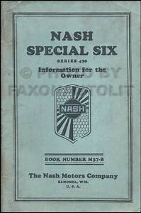 1929 Nash Special Six Owner U0026 39 S Manual Original