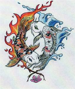 Yin and Yang Koi Fish in Color by RobinEvaFayEmbry on ...