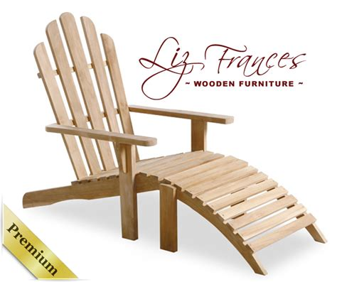 1 21m lewes grade a teak adirondack chair with footrest