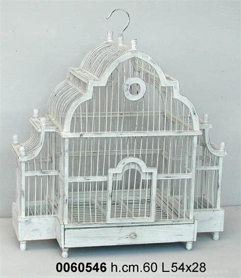 gabbia uccelli antica soffitta gabbia per uccelli decorativa 60cm shabby