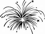 Firework Clipart Fireworks Explosion Draw Dumielauxepices Clip Drawing Happy Tattoo sketch template