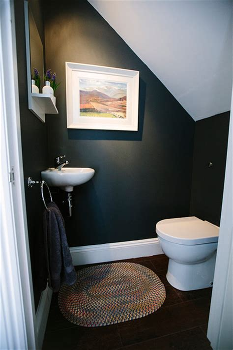 stairs toilet contemporary cloakroom london